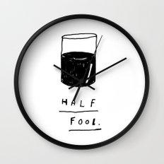 HALF FOOL Wall Clock