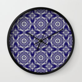 Classic Tiles Motif Pattern Wall Clock
