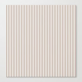 Warm Taupe Stripes Canvas Print