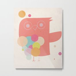 Owly Owl//One Metal Print