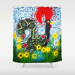 Portuguese Rooster 1 Shower Curtain