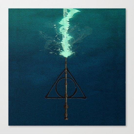 Harry Potter Deathly Hollows Expecto Patronum Canvas Print