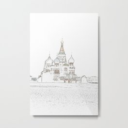 Saint Basil's Cathedral (on white) Metal Print