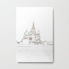 Saint Basil's Cathedral (on white) Metal Print