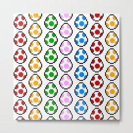 Yoshi Rainbow Eggs Metal Print