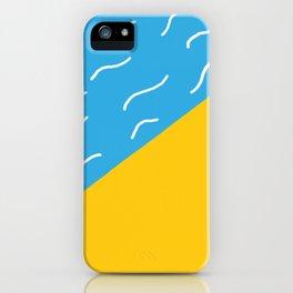 pop art beach iPhone Case