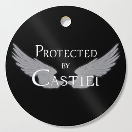 Protected by Castiel White Wings Cutting Board