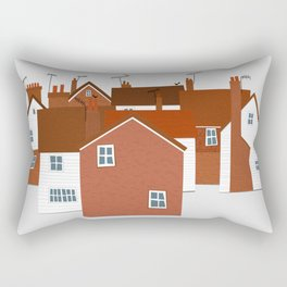 Houses in Kent and Sussex Rectangular Pillow