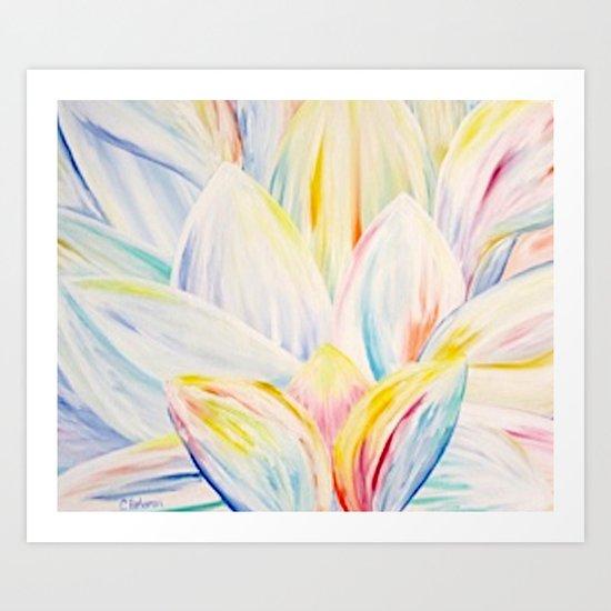 Rainbow Lotus Art Print