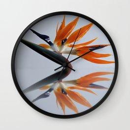 The bird of paradise flower Wall Clock