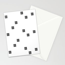 Back and White Geometric 8 Stationery Cards