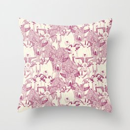 just goats cherry pearl Throw Pillow