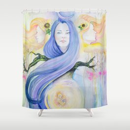 At Night, I Think of You Shower Curtain