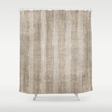 Striped burlap (Hessian series 3 of 3) Shower Curtain