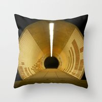 subway Throw Pillows featuring Subway by Matt Callaghan