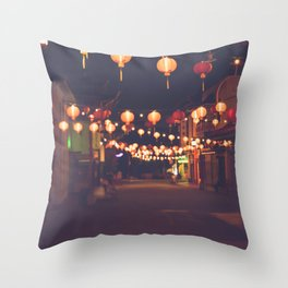 L.A. Chinatown Throw Pillow