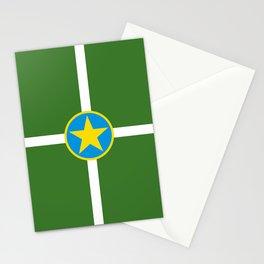 Jackson city flag united states of america Mississippi Stationery Cards