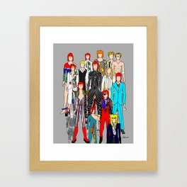 Heroes Doodle Framed Art Print