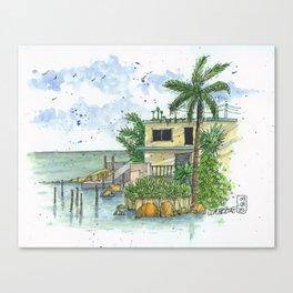 Beach Side Canvas Print