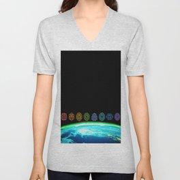 Earth Chakras  Unisex V-Neck