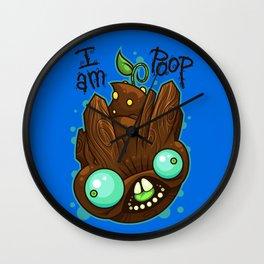 I Am Poop Wall Clock