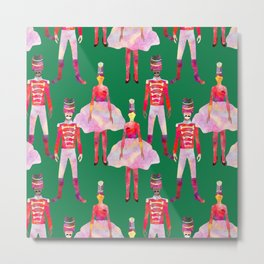 Nutcracker Ballet - Green  Metal Print