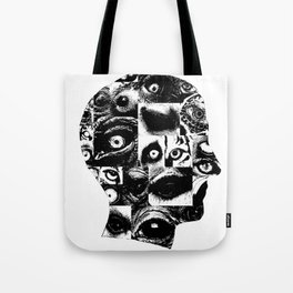 posterized head of eyes Tote Bag