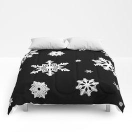 Snowflakes | Black & White Comforters