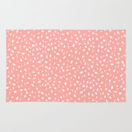 Pink Pattern with Shapes | Peach | Blush Pink Rug