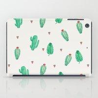 cactus iPad Cases featuring CACTUS by Ceren Aksu Dikenci