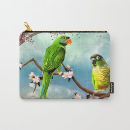 Wonderful, cute parrots Carry-All Pouch