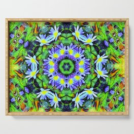 Floral Display In Abstract Serving Tray
