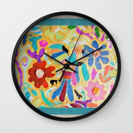 guadalupe botánico Wall Clock