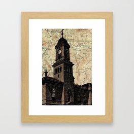Claremont NH screenprint Framed Art Print