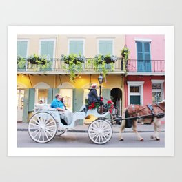 A Colorful Christmas in the French Quarter Art Print