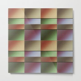 Colourful Collage Pattern Metal Print