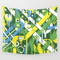 brazil Wall Tapestries featuring Brazil by Roberlan Borges