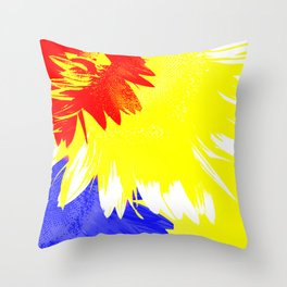 Flora Abstracta Throw Pillow