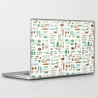 kitchen Laptop & iPad Skins featuring Kitchen by Mathilde Ruau