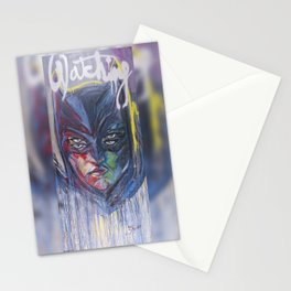 Bat Man Watching  Stationery Cards