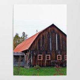 Orange Barn Poster