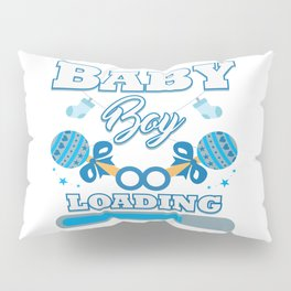 Baby Is Loading Boy Pregnancy Announcement Gift Pillow Sham