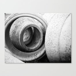 Soft lines, hard surface Canvas Print