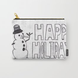 Snowman (Happy Holidays) Carry-All Pouch