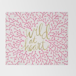 Wild at Heart – Pink & Gold Throw Blanket