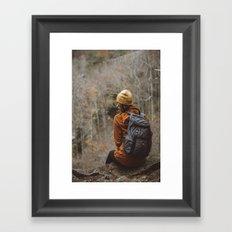Here Waiting Framed Art Print