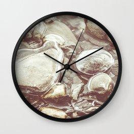 Ice Encased Rocks II Wall Clock