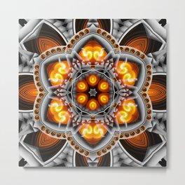 Metal & Flame Mandala Metal Print