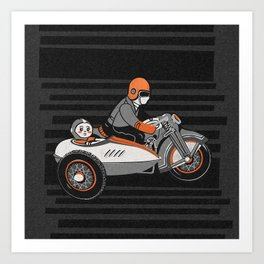 """""""Wind it Up"""" Toy Motorcycle Art Print"""