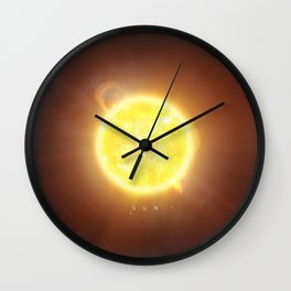 A Portrait of the Solar System: Sun Wall Clock